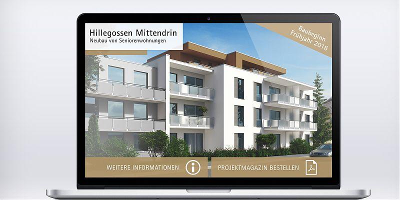 Landingpage für Bauprojekt Hillegossen Mittendrin