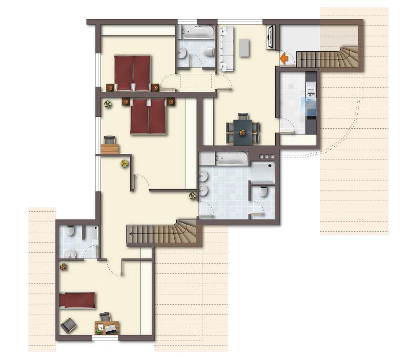 toplage in bielefeld hoberge gro z giges einfamilienhaus mit einliegerwohnung. Black Bedroom Furniture Sets. Home Design Ideas